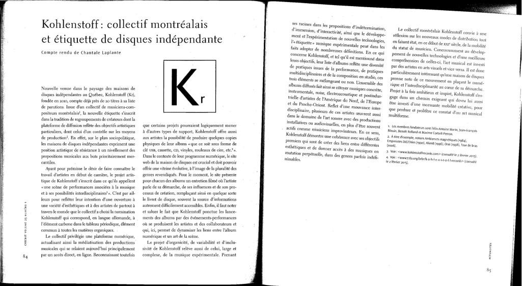 Article Circuit KOhlenstoff
