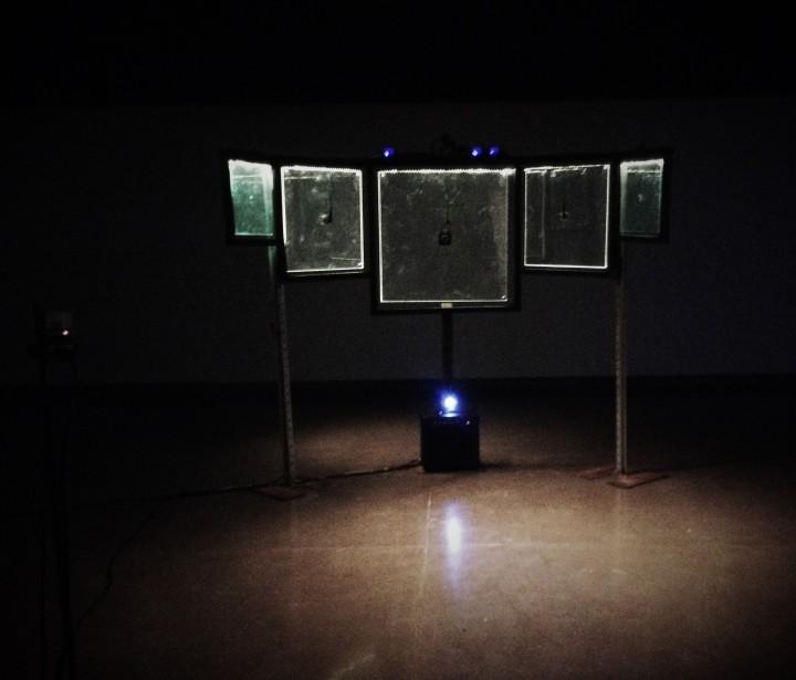 Claude Périard - Kohlenstoff records - VOIES (installation) - PANOPTICON, installation sonore interactive, 2017 (Diffusée par Ultrasons, Les Formes d'Ondes, le FIMAV)